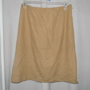 100% Camel Hair Fully Lined Cashmere Skirt